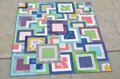 Simply Style Stacked Squares Quilt « Moda Bake Shop
