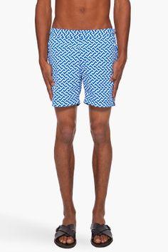 ORLEBAR BROWN Bulldog Print Beach Shorts.
