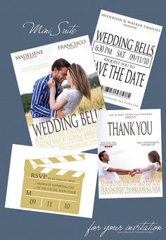 Movie Poster  Mini Suite Save the Date by foryourinvitation, $40.00