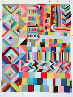 Colorful Quilt, via Lu Summers