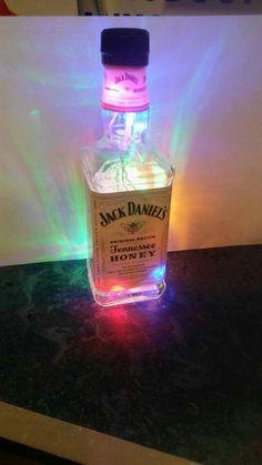 Jack Daniels fairy light bottle
