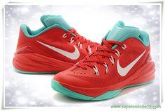 706505-063 Vermelho /Branco /Court Verde Nike Hyperdunk 2014 Low produtos de basquete