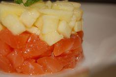 Salmón marinado con eneldo, manzana y aceite de limón. #casiestrellamichelin @visitelche @siliker @ociomagazine1