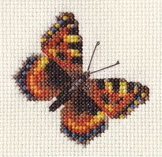 TORTOISESHELL-BUTTERFLY-Complete-cross-stitch-kit-all-materials