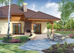 Ramzes - zdjęcie 4 Beautiful House Plans, Beautiful Homes, Gazebo, Pergola, Free House Plans, 20 M2, Home Interior Design, Bungalow, Villa