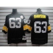 e8543c67b2b Mitchell And Ness Steelers  63 Dawson Black Stitched Throwback NFL Jersey  Pittsburgh Steelers Jerseys