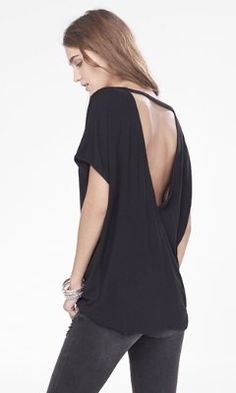 black one eleven v-back wedge tee from EXPRESS