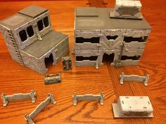 Keeping me from finishing off the last of the Orks for Toys for Tots (you'd think I'd shut up about that by now) were these last couple of b. Beat Em Up, Toys For Tots, Game Terrain, Wargaming Terrain, City Style, Cyberpunk, Infinity, Scenery, Pure Products