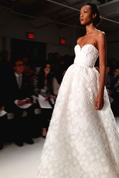 Strapless, ladylike glamour from @amsale | Brides.com