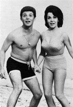 "Annette Funicello starred with Frankie Avalon in a series of ""Beach Party"" movies in the 1960s."