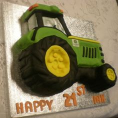7 Best Tractor Birthday Cakes Images