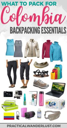 Going backpacking in Colombia? Here's what you need to pack for this amazing South America dream destination. Plus a FREE printable checklist! Packing guide   Colombia travel   What to pack Colombia   South America Travel