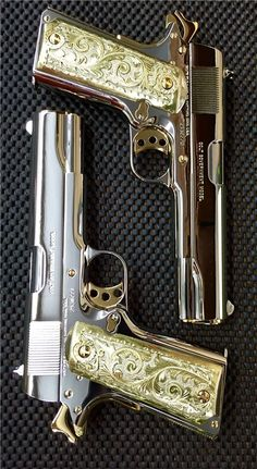 You're not bulletproof. - You're not bulletproof… — Twins A pair of sequentially numbered Colt Noiseless Self esteem Colt 1911, 1911 Pistol, Ninja Weapons, Weapons Guns, Guns And Ammo, Zombie Weapons, Revolver, Armas Ninja, Custom Guns