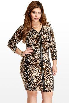 plus size zip dress fashion