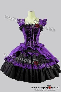 Wish | Victorian Gothic Lolita Cotton Purple Dress Ball Gown