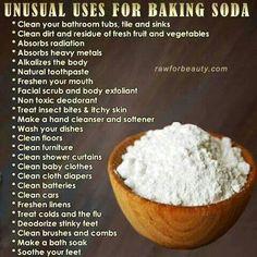 Unusual Uses For Baking Soda ingredients unusual remedies remedy life hack baking soda love hacks