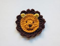 Ravelry: Lion Applique pattern by Carolina Guzman   Pattern $3.75