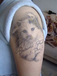 150 Cutest Cat Tattoos Designs And Meanings cool  Check more at http://fabulousdesign.net/cat-tattoos-meanings/