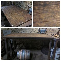 Needed a so made one from and that I had kicking around. Turn out pretty well I reckon. Metal Working, Entryway Tables, Upcycle, Recycling, Workshop, Scrap, Woodworking, Iron, Rustic