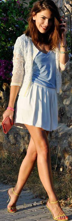 Maritsanbul (maritsa.co)                                   White Women's Summer Floral Lace Cardigan by Maritsa #fashion #vevelicious