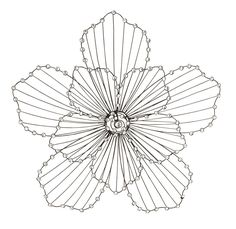 Wired Petals Flower Wall Art