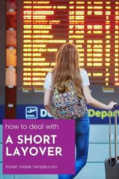 Short layovers can be stressful and could cause you to miss your flight connection. But Travel Made Simple has tips for dealing with a short layover and increasing your chances of making it to your connecting flight. | travel tips | flight tips | travel planning | travel hacks Air Travel Tips, Travel Hacks, Travel Advice, Vacation Destinations, Dream Vacations, Best Luggage, International Travel Tips, Short Break, What To Pack