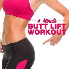 4 Minute Butt Lift Workout