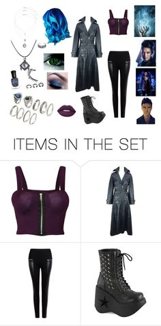 """Magnus Bane gender bend"" by asmnova ❤ liked on Polyvore featuring art"