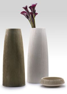 15-inch Textured Ceramic Vases & 6-inch Bowl: We love these vases for a modern or minimal arrangement. Add both texture and an unusual shape to your designs.