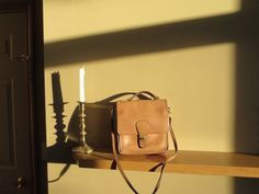 NYC Coach Brown Leather Station Manager Cross Body Messenger Shoulder Bag # 2815- VGC - New York City USA Made-