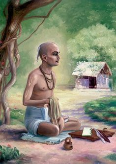 """ilookatyourshoes: """" """"Please know that by chanting the holy name all anarthas will be removed. When our heart is cleansed from all this anartha dust, the form, qualities and pastimes of the Lord will. Hare Krishna, Krishna Sudama, Krishna Leela, Radha Krishna Images, Lord Krishna Images, Krishna Pictures, Hanuman, Shiva, Indian Saints"""