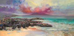 Harris Rocks original hebrides painting by Scott Naismith