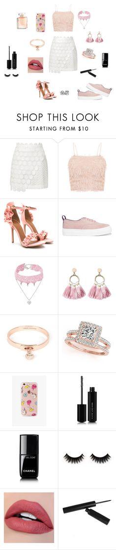 """""""Sem título #29"""" by ren-emily ❤ liked on Polyvore featuring Topshop, Eytys, Design Lab, SUGARFIX by BaubleBar, Juicy Couture, Allurez, The Casery, Marc Jacobs and Chanel"""