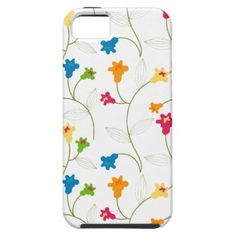 A Colorful Morning Glory Floral Pattern - iPhone case for you.