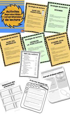 Stratégies de compréhension de lecture: Activités reproductibles