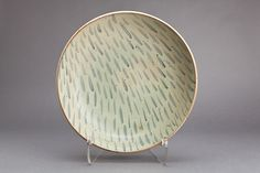 "Young Jae Lee: Plate, talc and feldspar glaze, Stoneware, 4.5 x 19.25 x 19.25"""