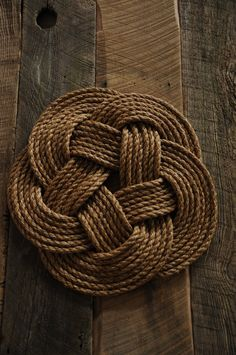 Nautical Rope Rug by OYKNOT on Etsy, $40.00