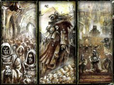 The Marienburg Gazette: Some John Blanche Art From The 40k Rulebook, Just Because It's Great