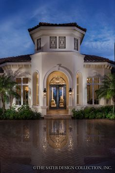 "The Sater Design Collection's luxury, Mediterranean home plan ""Portofino"" (Plan #6968). saterdesign.com"