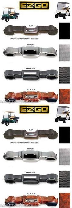 Push-Pull Golf Carts 75207: Ezgo Txt Golf Cart Overhead Radio Console Roof Mount -> BUY IT NOW ONLY: $169 on eBay!
