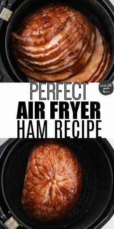 Air Fryer Recipes Videos, Air Fryer Oven Recipes, Air Frier Recipes, Air Fryer Dinner Recipes, Ham Recipes, Boneless Ham Recipe, Instant Pot Ham Recipe, Fried Ham