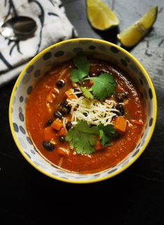 Vegetarian Tortilla Soup: Just like chicken tortillas soup, but (surprisingly) vegan! Use sprouted-grain tortillas for Phase 1 (no oil) and Phase 3.