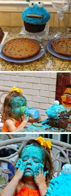 This is how you eat a cake.