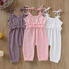 Baby Girl Summer Strap Cotton Sleeveless Jumpsuit – DailyBestBuys