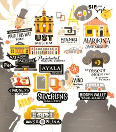 Sad to say, I haven't been to most of these. ///Adventure Land by Mika Bacani, via Behance