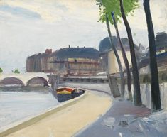 Edward Hopper - Le Quai des Grands Augustins with Tree (1907)