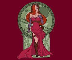 Jessica Rabbit Steampunk T-Shirt