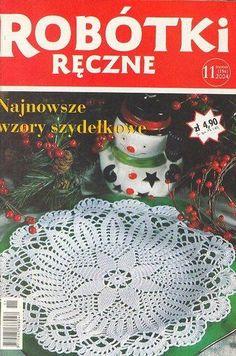 Robotki reczne 3 - Antosia - Álbuns da web do Picasa Knitting Books, Crochet Books, Crochet Art, Crochet Home, Thread Crochet, Filet Crochet, Crochet Stitches, Crochet Things, Knitting Magazine