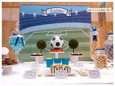 Mesa dulce. Candy bar. Mesa dulce futbol. Mesa dulce Real Madrid. Diseñada por www.mommas.es