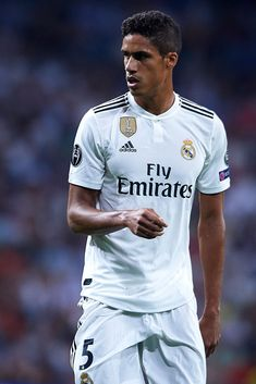 Raphael Varane of Real Madrid looks on during the Group G match of the UEFA Champions League between Real Madrid and AS Roma at Bernabeu on September 2018 in Madrid, Spain. Get premium, high resolution news photos at Getty Images Varane Real Madrid, Hazard Real Madrid, Madrid Girl, Ramos Real Madrid, Ronaldo Real Madrid, Real Madrid Football, Football Love, Nike Football, Manchester United